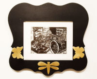 C.V.(Convenient Vanities) I with artist made frame