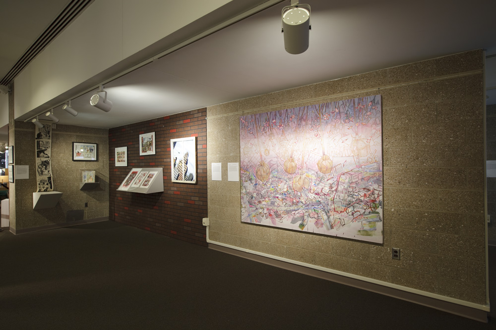 Compulsive Narratives installation with Hiro Sakaguchi and Peter Kuper