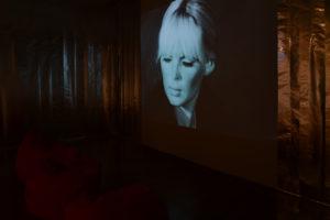 Nico in projection Warhol Show Dec 2016 - Jan